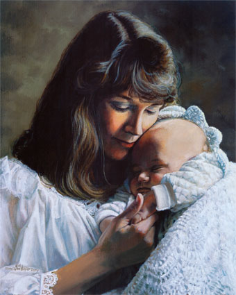 ab3930vmother-and-baby-in-white-posters1
